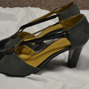 Naturalizer Patent Leather and suede heels.